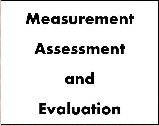 MEASUREMENT, ASSESSMENT AND EVALUATION-III